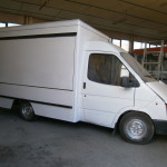 καντίνα ford άσπρη 3 μέτρα εξωτερικό πλάι κλειστό
