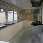 καντίνα άσπρη μεταχειρισμένη 4 μέτρα εσωτερικό μπροστά